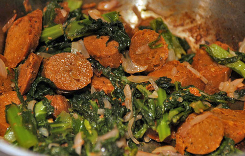 Greens_with_sausage